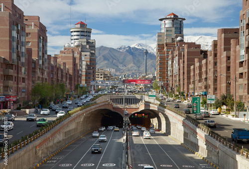 Foto op Plexiglas Midden Oosten Cars Passing Through Tohid Tunnel of Tehran