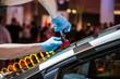 Leinwanddruck Bild - repair car windshield