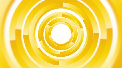 abstract background with yellow rotating circles endless loop