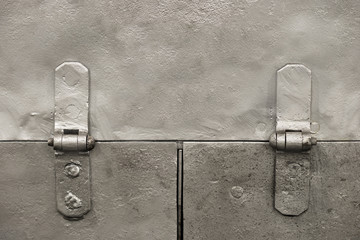 Metal background with hinges