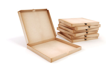 3d blank packing boxes for pizza