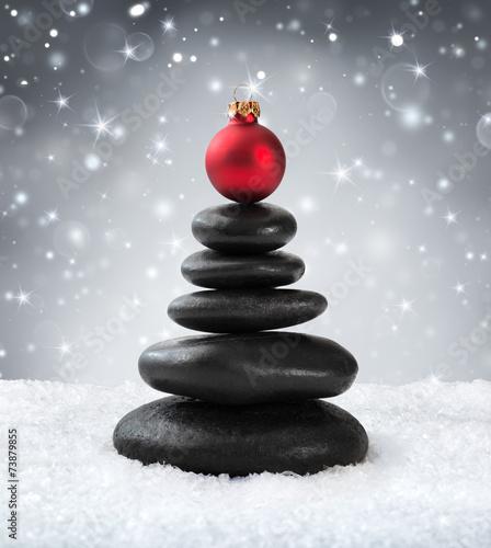 Keuken foto achterwand Ontspanning spa stones - in christmas