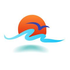 surf sun vector