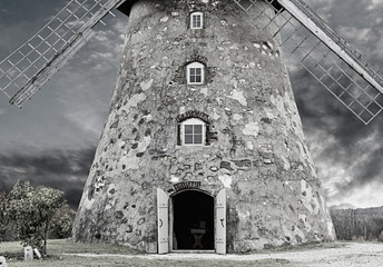 Entrance into medieval windmill, county of Cesis