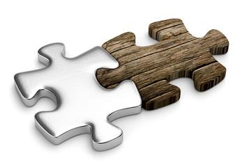 incastro legno-metallo