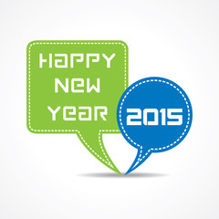 creative New Year 2015 design with message bubble concept