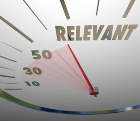 Relevance Word Speedometer Important Significant Pertinent Infor