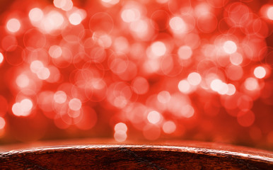 festive red bokeh