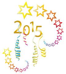 Feuerwerk Silvester 2015 - Goldene Sterne