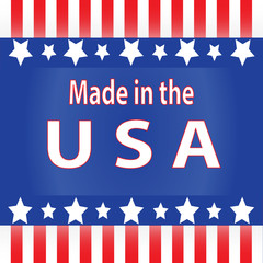 Red, White and Blue Made in the USA