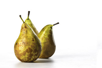 Pears on black background