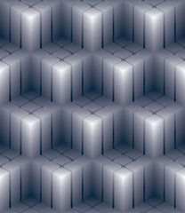 Geometric 3d decorative wallpaper, abstract squared seamless pat