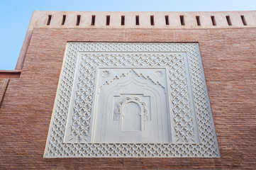 Aufwändig restaurierte Fassade in Marrakesch