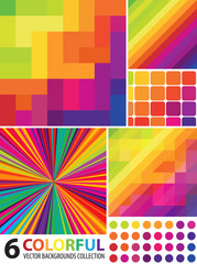 Multi-colored Abstract Backgrounds Collection