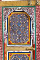 bunte Schranktür als Textur, Marrakesch