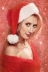 femme sexy avec bonnet Noël