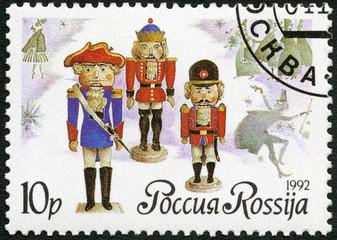 RUSSIA - 1992: shows German dolls-nutckrackers