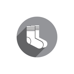 Socks vector icon isolated.