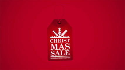 Christmas sale label, Video Animation, HD 1080