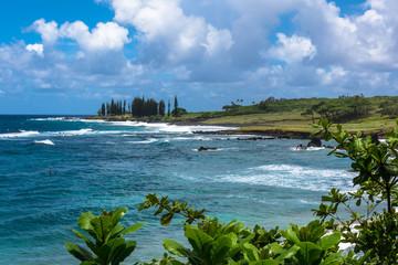 The coast of Maui from the road to Hana, Hawaii