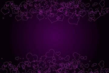 Sparkling heart. Love concept.