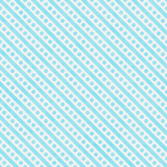 Light Teal and White Small Polka Dots and Stripes Pattern Repeat