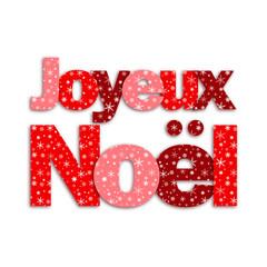 Joyeux Noël (lettres flocons de neige texte)