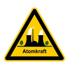 wso101 WarnSchildOrange - atom1 - Symbol - Atomkraft g2648