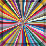 Colorful centrifugal striped background with diagonal segments. poster