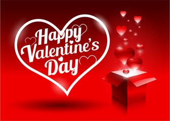 Modern bright valentine's day gift
