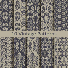 set of ten veintage patterns