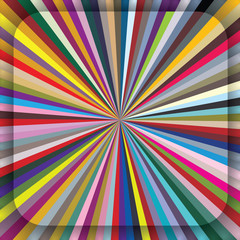 Colorful centrifugal striped background with diagonal segments.