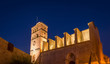 Ibiza Cathedral at night