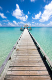 Long pier in the day time, Indian ocean - 73887879