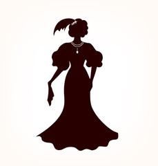 Image of romantic aristocratic woman