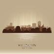 Wellington New Zealand city skyline vector silhouette - 73888283
