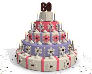 Verjaardagstaart 80 jaar
