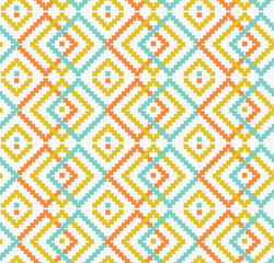 Decorative seamless texture in traditional bright colors