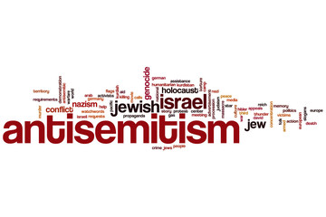 Antisemitism word cloud