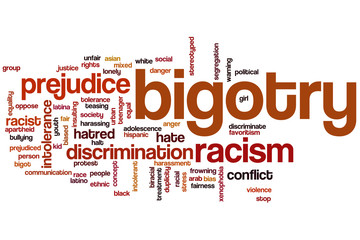 Bigotry word cloud