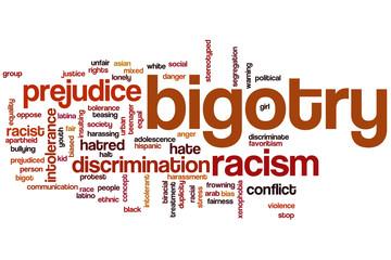 Bigotry word cloud