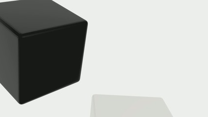 3D CUBES AND TRANSITION EFFECT in black out white