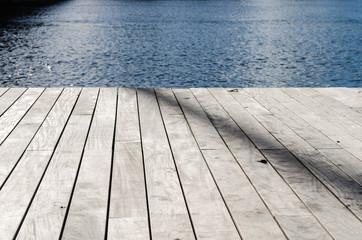 Fond et texture, planches et eau