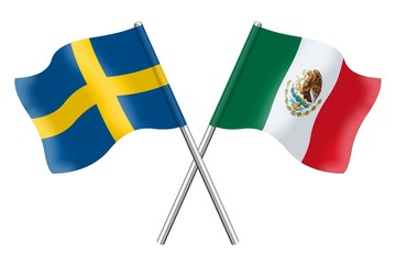 Flags: Sweden and Mexico