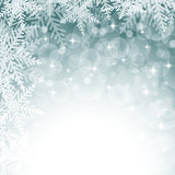 Fototapety Christmas snowflakes on colorful background.