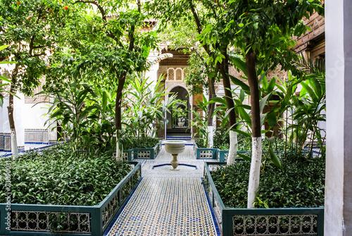 Fotobehang Marokko Palais de Bahia Marrakech
