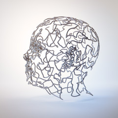 3D abstract head