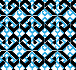 Seamless pattern with rhombs, colorful infinite geometric mosaic