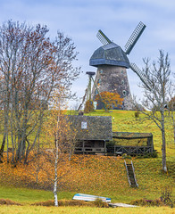 Medieval windmill in county of Cesis, Latvia