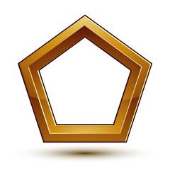 Vector glorious glossy design element, conceptual graphic templa